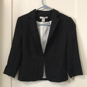 H&M black suit jacket with quarter length sleeves